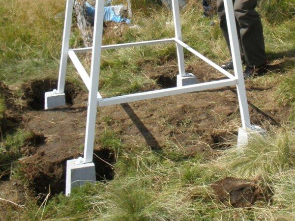 Klatka meteorologiczna Stevensona standardowa IMGW duża + stojak metalowy + schody metalowe + system kotwiący