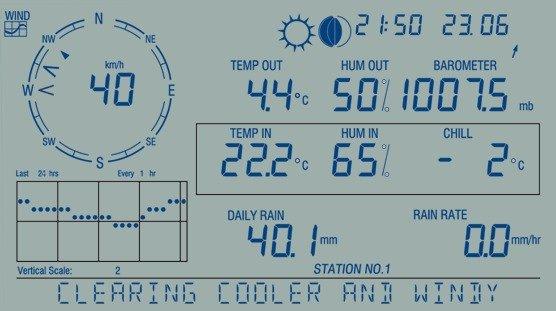 Davis 6312 konsola odbiorcza bezprzewodowa do stacji meteorologicznej Vantage Pro2