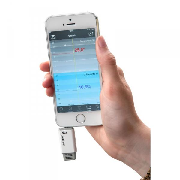 Czujnik temperatury i wilgotności TFA 30.5035 SMARTHY termohigrometr do smartfonu