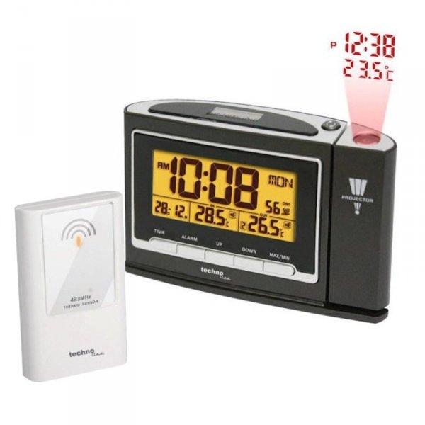 Termometr bezprzewodowy TechnoLine WT 529 z czujnikiem zewnętrznym budzik z projektorem