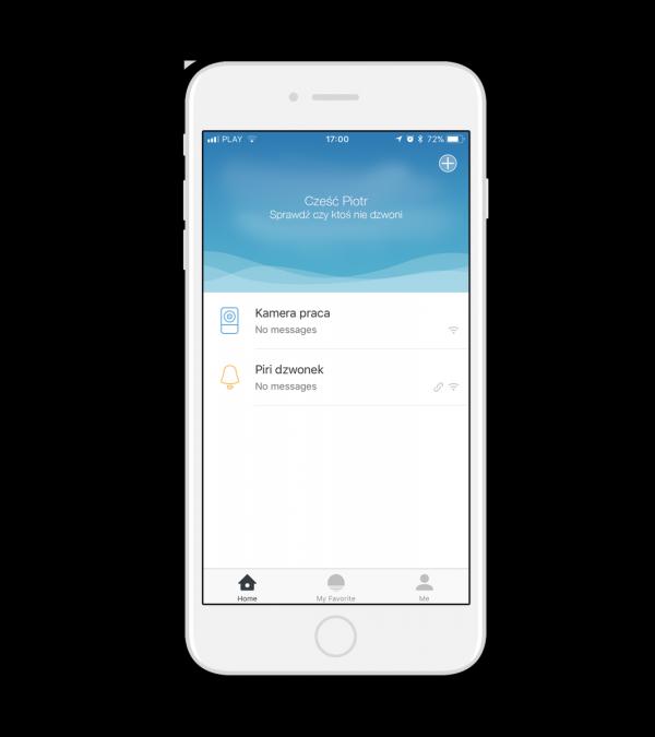 Wideodomofon on-line PIRI dzwonek WiFI do drzwi z kamerą do inteligentnego domu