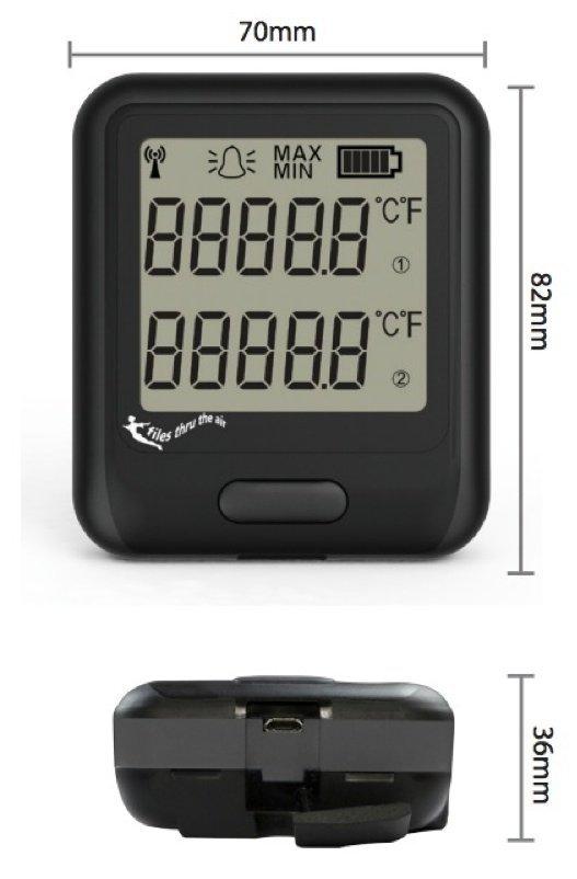 Rejestrator temperatury dwukanałowy internetowy Corintech EL-WiFi-DTC data logger WiFi, IP, Ethernet z sondami termoparowymi