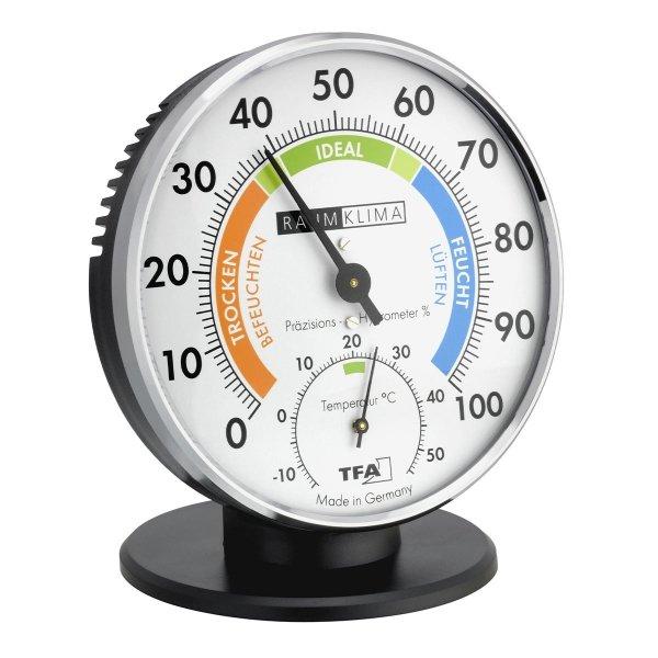 TFA 45.2033 termohigrometr tradycyjny czujnik temperatury i wilgotności mechaniczny włókna syntetyczne 102 mm