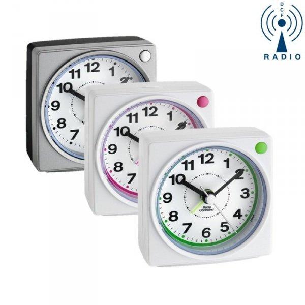 TFA 60.1507 budzik biurkowy zegarek wskazówkowy sterowany radiowo