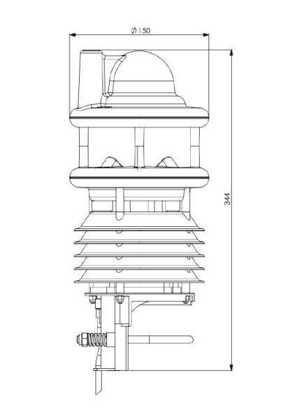 Lufft WS800 kompaktowa stacja meteorologiczna stacja pogodowa przemysłowa Modbus mini radar meteo detektor wyładowań
