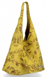 Torebka Skórzana VITTORIA GOTTI Made in Italy V2473 Żółta