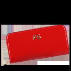 Skórzany Portfel Damski VITTORIA GOTT Made in Italy VG004DG Czerwony