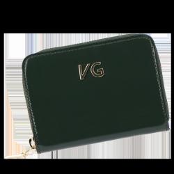 Skórzany Portfel Damski VITTORIA GOTTI Made in Italy VG004MG  Butelkowa Zieleń