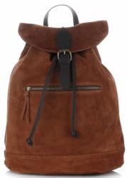 Plecak Skórzany VITTORIA GOTTI Made in Italy 80022 Brązowy