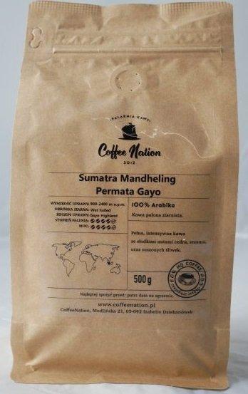Sumatra Mandheling  Permata Gayo  500g  -100% Arabika