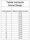 ANIMAL DESIGN Derka DP czarno-kremowa rozmiar 0 18cm