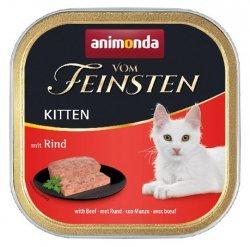 Animonda vom Feinsten Kitten z Wołowiną tacka 100g