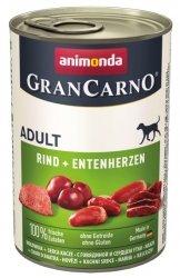 Animonda GranCarno Adult Rind Entenherzen Wołowina + Serca kacze 400g