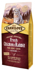 Carnilove Adult Cat Fresh Chicken & Rabbit Gourmand 6kg