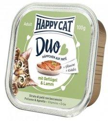 Happy Cat Duo pasztet z drobiem i jagnięciną 100g