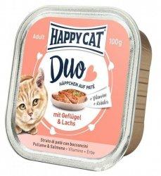 Happy Cat Duo pasztet z drobiem i łososiem 100g