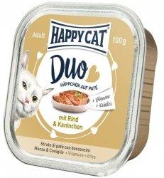 Happy Cat Duo pasztet z wołowiną i królikiem 100g