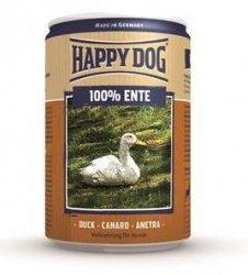 12x Happy Dog Ente Puszka 100% Kaczka 400g