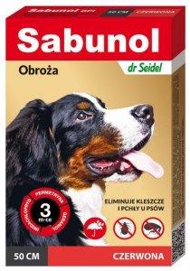 DermaPharm Sabunol GPI Obroża przeciw pchłom dla psa czerwona 50cm