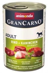 Animonda GranCarno Adult Rind Kaninchen Krautern Wołowina + Królik z Ziołami 400g