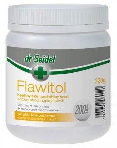 Dr Seidel Flawitol zdrowa skóra i piękna sierść 200 tabletek