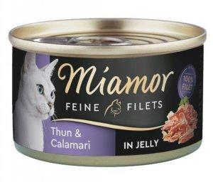 Miamor Feine Filets Dose Thunfisch & Calamari - tuńczyk i kalmary 100g