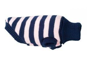 Ami Play Sweter dla psa Glasgow 28 cm Różowe paski