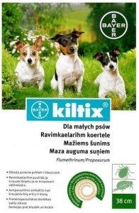BAYER KILTIX Obroża przeciw pchłom i kleszczom dla małych psów 38cm