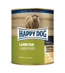 6x Happy Dog Lamm Puszka 100% Jagnię 800g