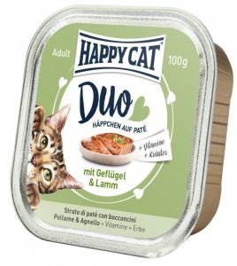 Happy Cat Duo pasztet z drobiem i jagnięciną 100g