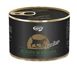 Natural Taste Cat JUNIOR z Królikiem 185g