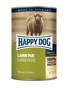 6x Happy Dog Lamm Puszka 100% Jagnię 400g