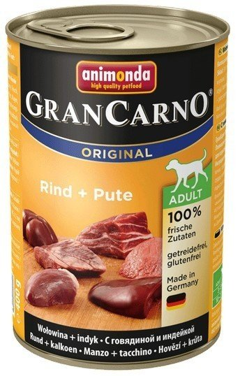 Animonda GranCarno Adult Rind Pute Wołowina + Indyk 400g