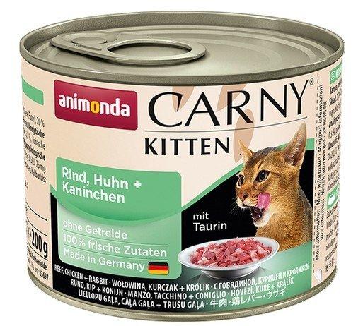 Animonda Carny Kitten Kurczak + Królik puszka 200g