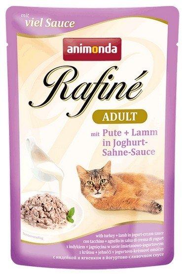Animonda Rafiné Soupé Adult Indyk + jagnię w sosie jogurtowym saszetka 100g