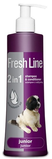 Fresh Line 2w1 Junior - Szampon z odżywką dla szczeniąt 220ml