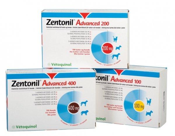 Vetoquinol Zentonil Advanced 200mg 30 kaps.