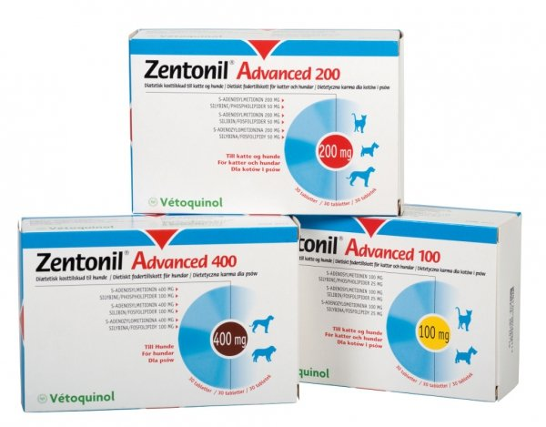Vetoquinol Zentonil Advanced 200mg 30 tabletek