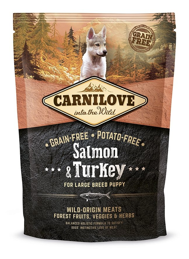 Carnilove Salmon and Turkey  Large Breed Puppy 1,5kg