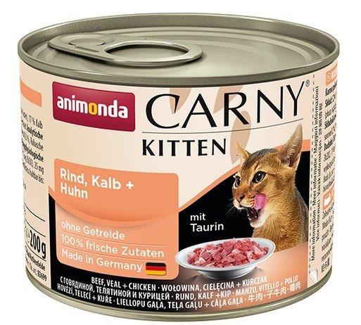Animonda Carny Kitten Cielęcina + Kurczak puszka 200g