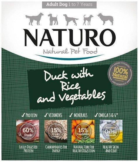 Naturo Adult Kaczka z ryżem i warzywami 400g