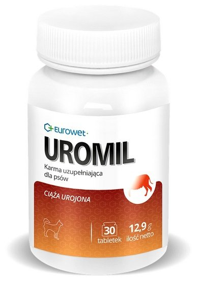 Eurowet Uromil - układ moczowy, ciąża urojona 30 tabletek