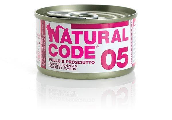 Natural Code Cat 05 Kurczak i szynka 85g