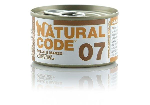 Natural Code Cat 07 Kurczak i wołowina 85g