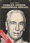 Edward Gierek Przerwana Dekada