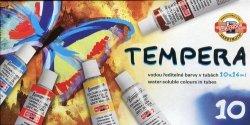 Farby tempery 10x16ml 10 kolorów