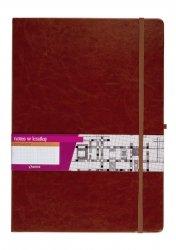 Notes A4 z gumką Formalizm kratka brązowy