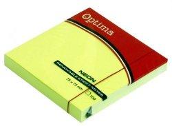 Karteczki samoprzylepne 75x75 mm zieleń Optima