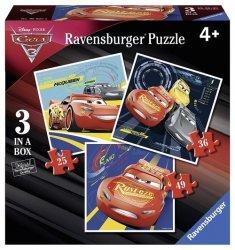 Puzzle Auta 3 Porywajacy wyścig 3 w 1