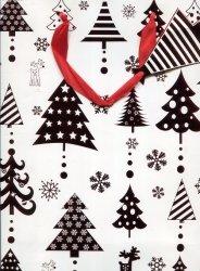 Torebka świąteczna pionowa średnia Czerwień